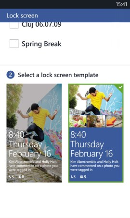 Windows Phone 8 Facebook Lockscreen Options 2