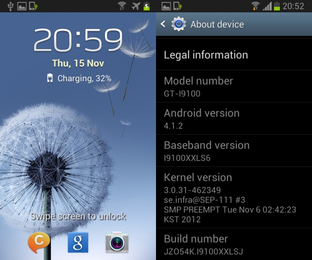 Install Official Android 4.1.2 on your Galaxy S2 Kernel ...