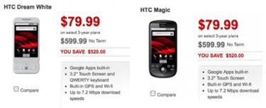 Android Revolution Gets Even Cheaper for HTC Magic, Dream