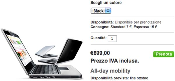 Nokia Italia Starts Selling Nokia Booklet 3G for 699 Euro