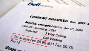 No More System Access Fee for Bell Too