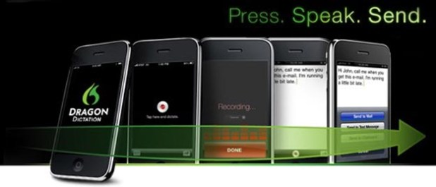 Speech-Based Text Messages and E-Mails with Dragon for iPhone