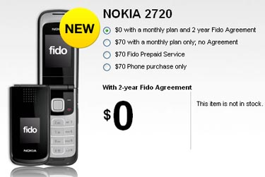 Fido Launches Nokia 2720 Flip Phone for Free