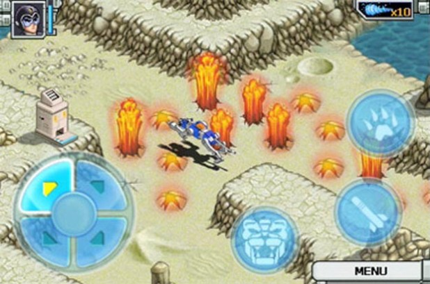 Blast into the Past with Voltron iPhone Game
