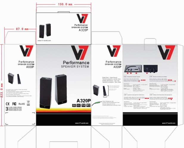 REVIEW - V7 A321P 2.1 Multimedia Speaker System