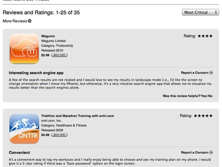 Companies charge a fee to Application developers to post glorious reviews