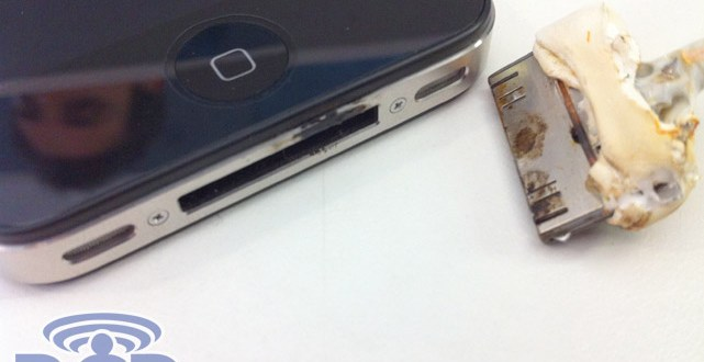iPhone 4 catches fire and burns owners hand