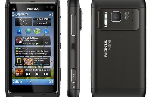Nokia N8 smartphone with Symbian S^3 platform