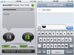 Black-sms-iphone-app