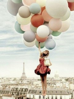 Free Girl Wallpapers For Mobile Phones Balloons In Paris Wallpaper