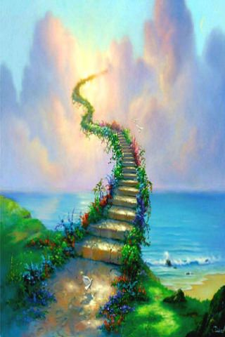 Soni Name 3d Wallpaper Download 3d Stairway To Heaven Iphone Wallpaper Mobile