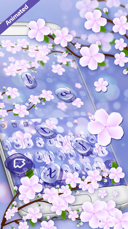 3D Pink Cherry Blossom keyboard Free Android Theme download