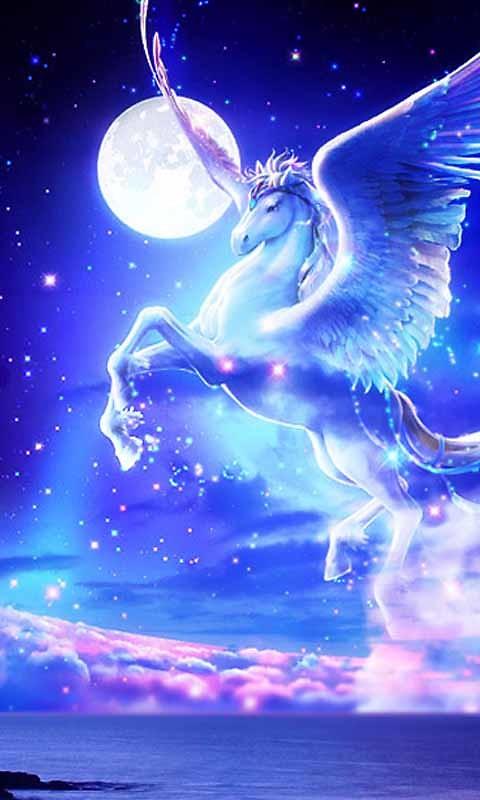 Interactive Wallpaper Iphone X Unicorn Pegasus Live Wallpaper Free Android Live Wallpaper