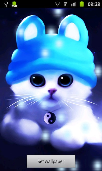 Cute Cat Bubbles Live Wallpaper Free Android Live ...