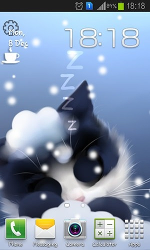 3d Live Wallpaper For Samsung Galaxy Core 2 Download Free Android Wallpaper Frosty The Kitten 3117