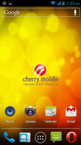 Cherry Mobile Screenshot Homescreen
