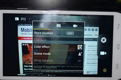 MyPhone A919i Duo Camera Options