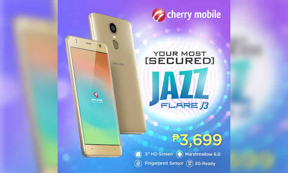 Cherry Mobile Flare J3 Packs HD Screen, Fingerprint Sensor, and Marshmallow 6.0 for Php3,699!