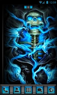 Magic 3d Wallpapers Free Download Download Skull Blue Fire 3d Android Theme Htc Theme