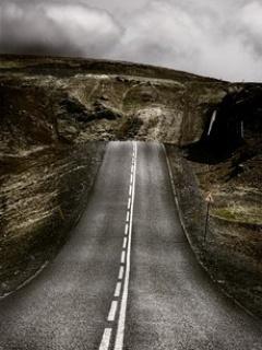 Download Alone Road Mobile Wallpaper   Mobile Toones