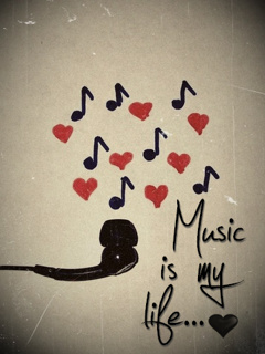 Download Free Cute Love Wallpapers For Mobile Download Music Is My Life Mobile Wallpaper Mobile Toones