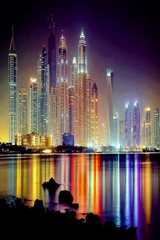 Live Wallpaper For Iphone 3gs Download Dubai Colors Lighting Awesome View Iphone