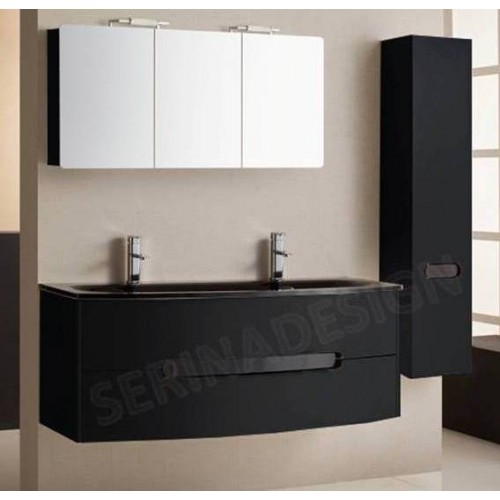 cdiscount meuble salle de bain double vasque excellent cancun meuble sousvasque cm dcor pin. Black Bedroom Furniture Sets. Home Design Ideas