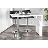 Table De Bar Blanc Laque - Maison Design - Wiblia.com