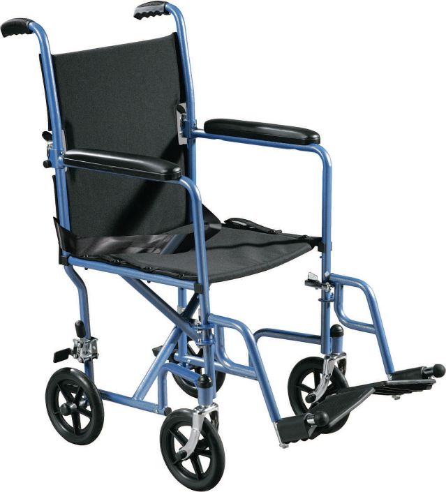 Drive-TR37E-steel-transport-wheelchair-blue-huge