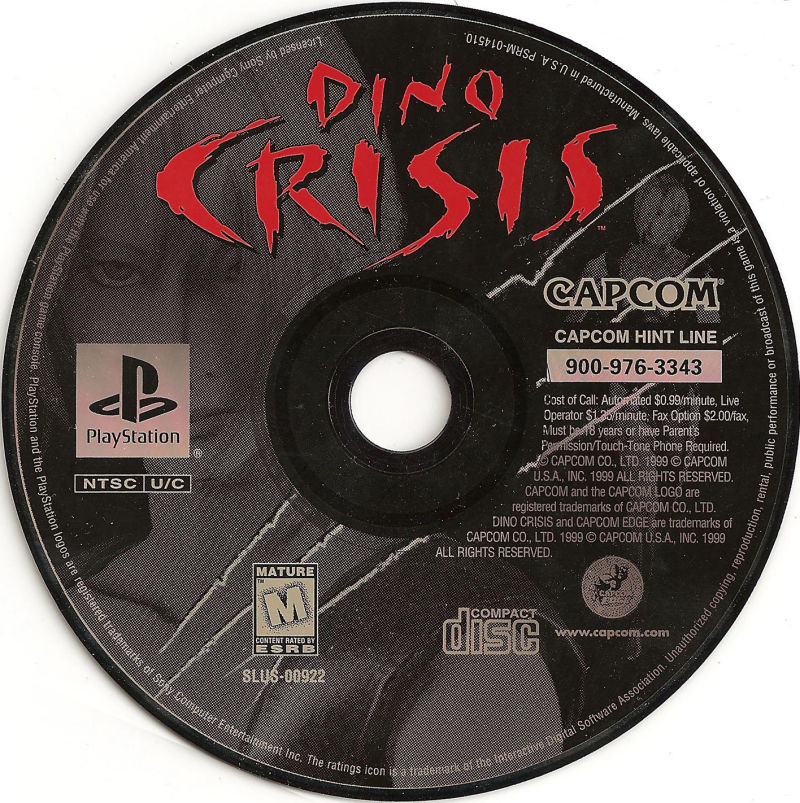 109920-dino-crisis-playstation-mediajpg (800×803) Dino Crisis - cd label