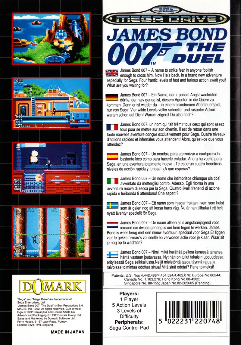 James Bond 007: The Duel Genesis Back Cover
