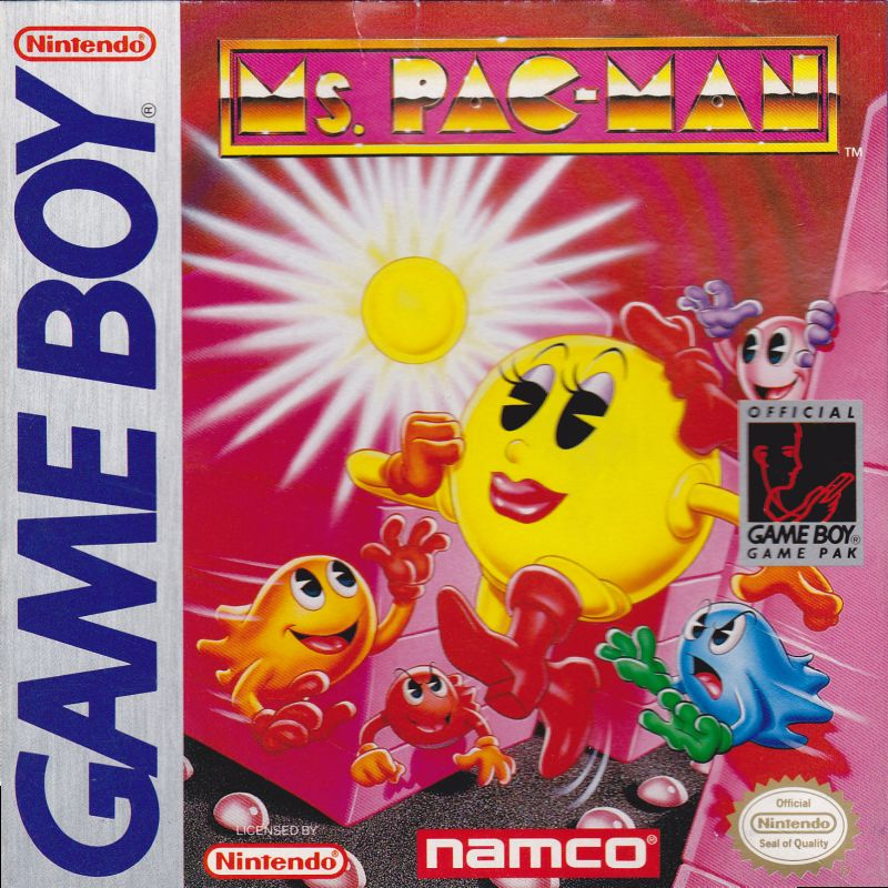 Ms Pac-Man (1993) Game Boy box cover art - MobyGames