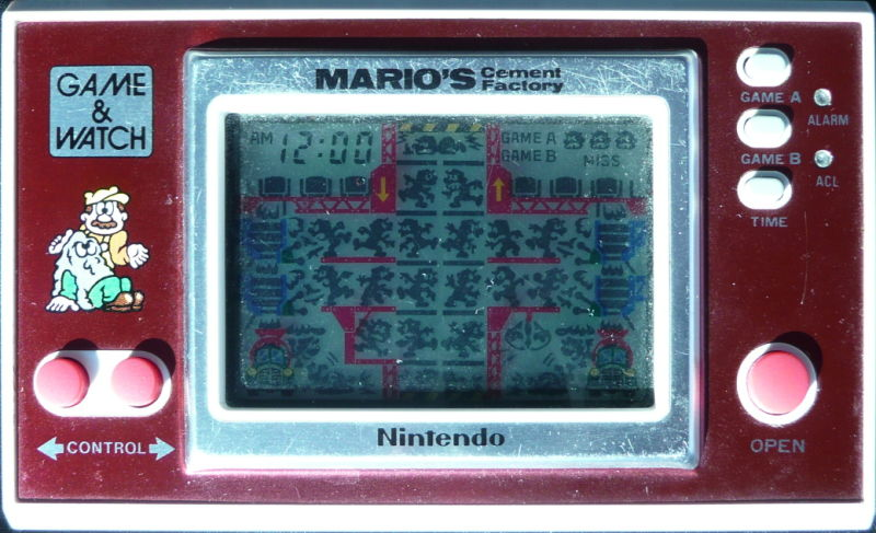 Game Watch Wide Screen Mario39s Cement Factory 1983