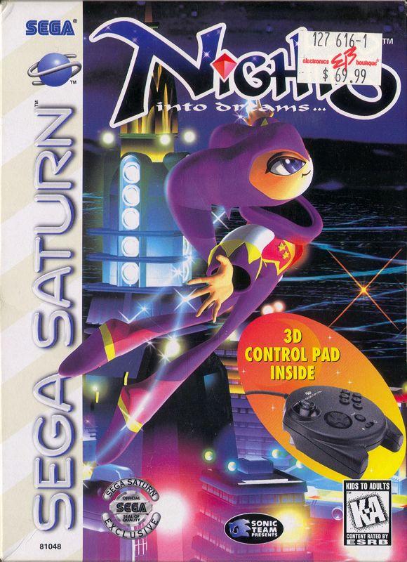 Sonic Wallpaper Hd 3d Nights Into Dreams 1996 Sega Saturn Box Cover Art