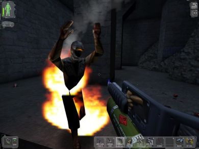 NSF terrorist on fire!  Napalm is good.