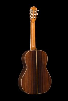Chitarra classica in palissandro vista posteriore