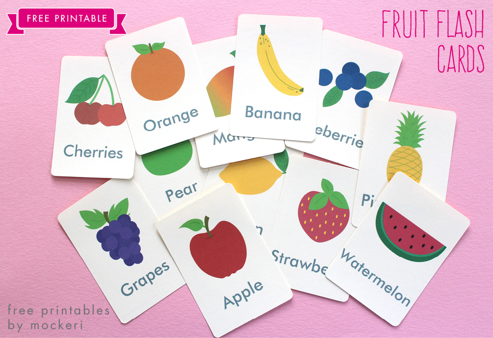 Free Printable Fruit Flash Cards and Matching Cards - vocab cards