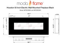 White Electric Fireplace Review | Moda Flame Houston 50 ...