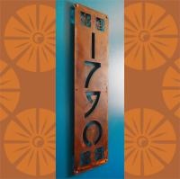 CUSTOM Arts & Craft Style Vertical House Numbers in Rusted ...