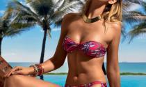 Beachwear - Floral Fascia Caramella - Floral Slip Lacci