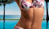 Beachwear - Floral Mousse - Floral Slip Alto Arriccio