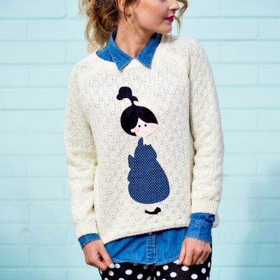 GIRL PATCH SWEATER