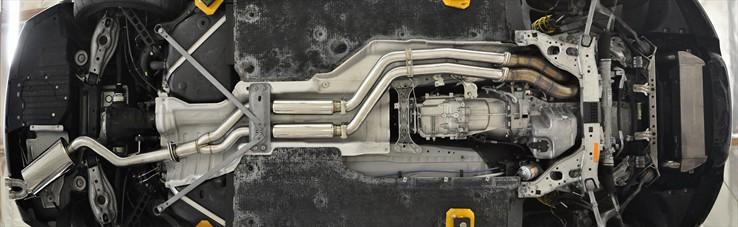 Berk Technology BMW 135i Exhaust bottom view