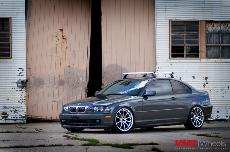 VMR Wheels V701 Advan RS Style Hyper Silver on 323Ci