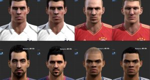 pes 2013 face pack