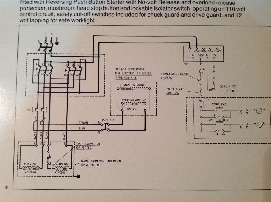 Lathe Wiring Diagram - Wiring Diagram Progresif