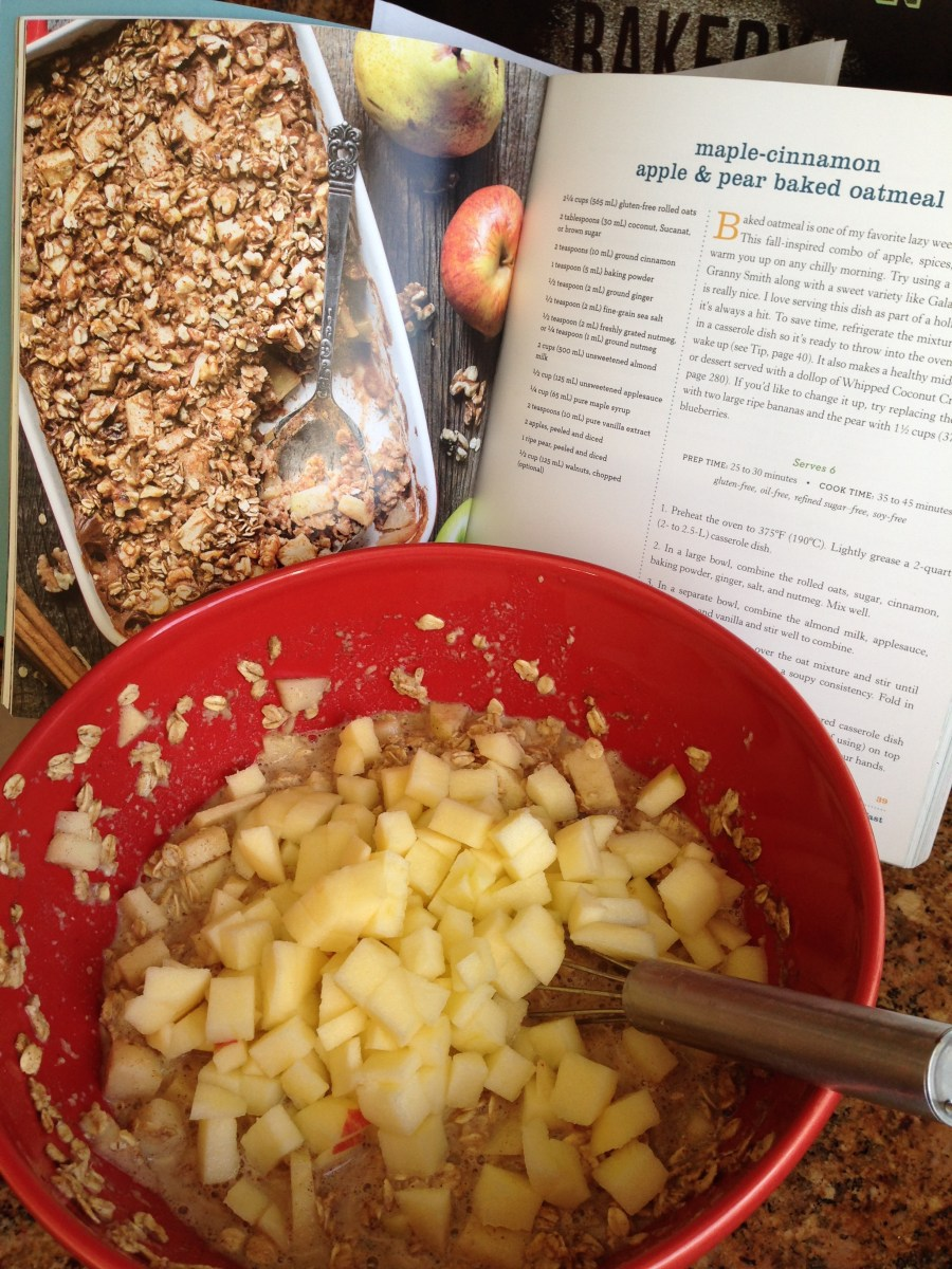 Maple-Cinnamon Apple & Pear Baked Oatmeal