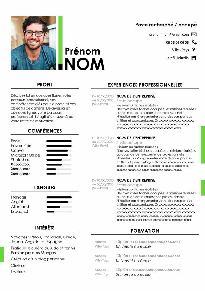 model cv word en francais exemple cv emploi