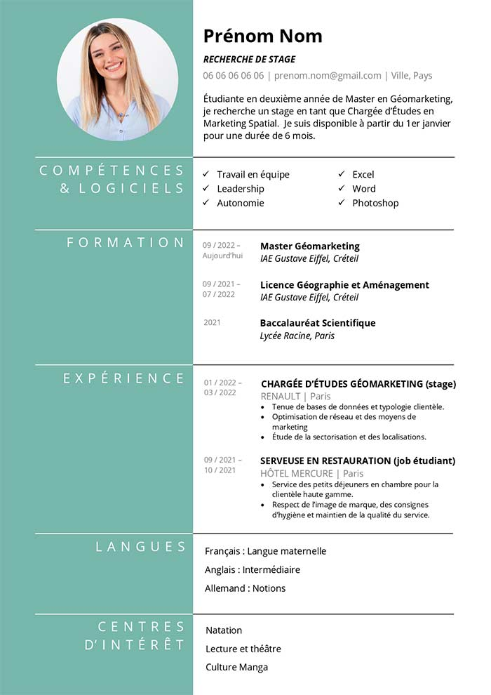 comment creer un cv simple