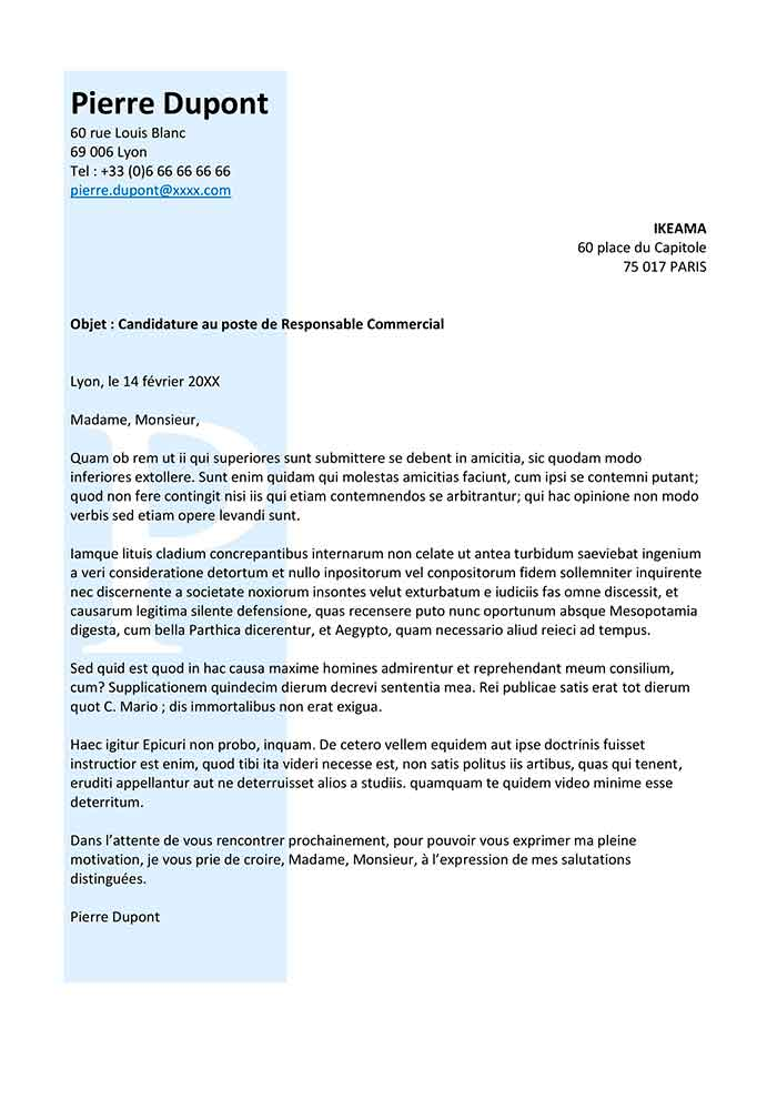 lettre de motivation cv cdi